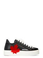 Dsquared2 Leather Platform Sneakers - black
