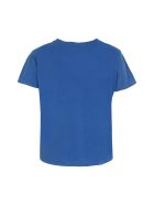 Mother Printed Cotton T-shirt - blue
