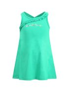 Little Marc Jacobs Green Dress For Girl With Logo - Green