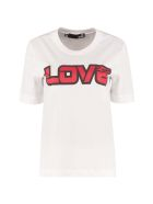 Love Moschino Logo Print Cotton T-shirt - White