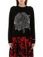 Valentino Rose Embroidery Pullover - NERO (Black)