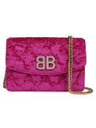 Balenciaga Bb Wallet On Chain - Violet