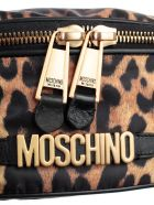 Moschino Logo Plaque Belt Bag - Black