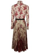 RED Valentino Flower Print Dress - ivory