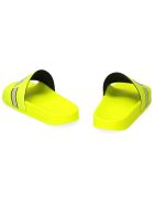 Fila Morro Bay Logo Detail Rubber Slides - Yellow