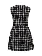 Valentino Short Dress Overcheck Tweed - Neroavorio