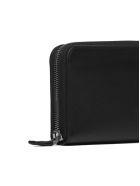 Prada Logo Zip Around Wallet - Nero