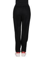 Agnona Black Mool-cashmere Blend Trousers - Black