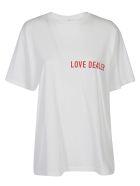 Golden Goose T-shirt - White/red