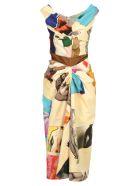 Marni Marni Printed Midi Dress - ANTIQUE WHITE PRINT