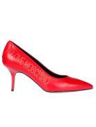 Love Moschino Logo Pumps - Rosso
