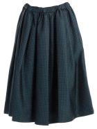Comme des Garçons Dot Printed Skirt - Blue Green