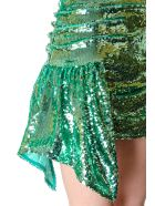For Love & Lemons Skirt Coated With Paillettes Color Green - Green