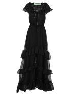 Off-White Off White Long Dress - Black