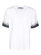 Vision of Super Flame Sleeve T-shirt - White