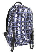 Dolce & Gabbana Logo Backpack - Dg Grafico F Blu