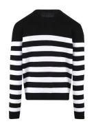 Balmain Black/white Wool/cotton Jumper - Nero+bianco