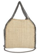 Stella McCartney Rafia Falabella Shoulder Bag - White