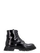 Alexander McQueen Wander Leather Combat Boots - black