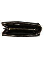 Coach Logo Plaque Zip Around Wallet - Black