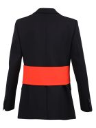 Givenchy Contrasting Insert Wool Jacket - Multi