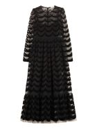 RED Valentino Long Tulle Dress - black