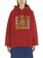 Gucci 'gucci Fake' Hoodie - Red