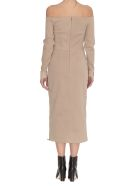 Fendi Pique' Jersey Dress - Beige