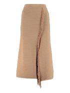 Pinko Pingpong Fringed Knit Skirt - brown