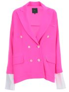Jejia Oversized Jacket Wool Crepe - Fucsia