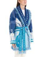 Alanui 'iced Landscape' Cardigan - Light blue