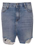 Don't Cry Distressed Skirt - Blue