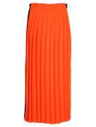 MM6 Maison Margiela Mm6 Pleated Long Skirt - BLACK + ORANGE  FLUO