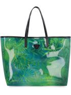 Versace Vinyl Shopper Bag - green