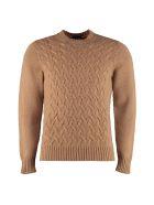 Drumohr Crew-neck Wool Sweater - Camel
