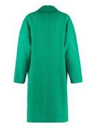 Pinko Faglia Wool Coat - green
