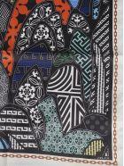 the VOLON Printed Foulard - White/Multicolor