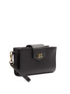 MICHAEL Michael Kors Black Hammered Leather Wallet - Black