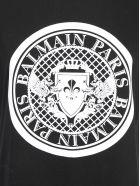 Balmain Flocked Coin T-shirt - Noir blanc