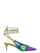 The Attico Leather Pointy-toe Slingback - Multicolor