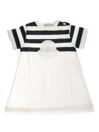 Moncler Embroidered T-shirt Dress