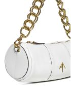MANU Atelier Xx Mini Cylinder Leather Bag - White
