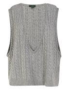 Jejia Braid Knit Vest - Grey