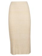 Jil Sander Navy Ribbed Pencil Skirt - Basic