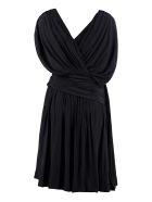 Lanvin Draped Asymmetric Dress - blue