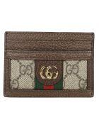 Gucci Ophidia Card Case - Beige Ebony Multi