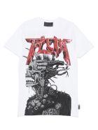 Philipp Plein 'logo Rock Plein Punk' T-shirt - White