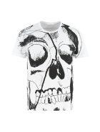 Alexander McQueen Printed Cotton T-shirt - White