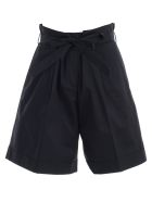 PS by Paul Smith Tie Belted Waist Shorts - Dk Na