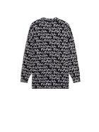 Balenciaga L/s Logo Crewneck Sweater - Black White